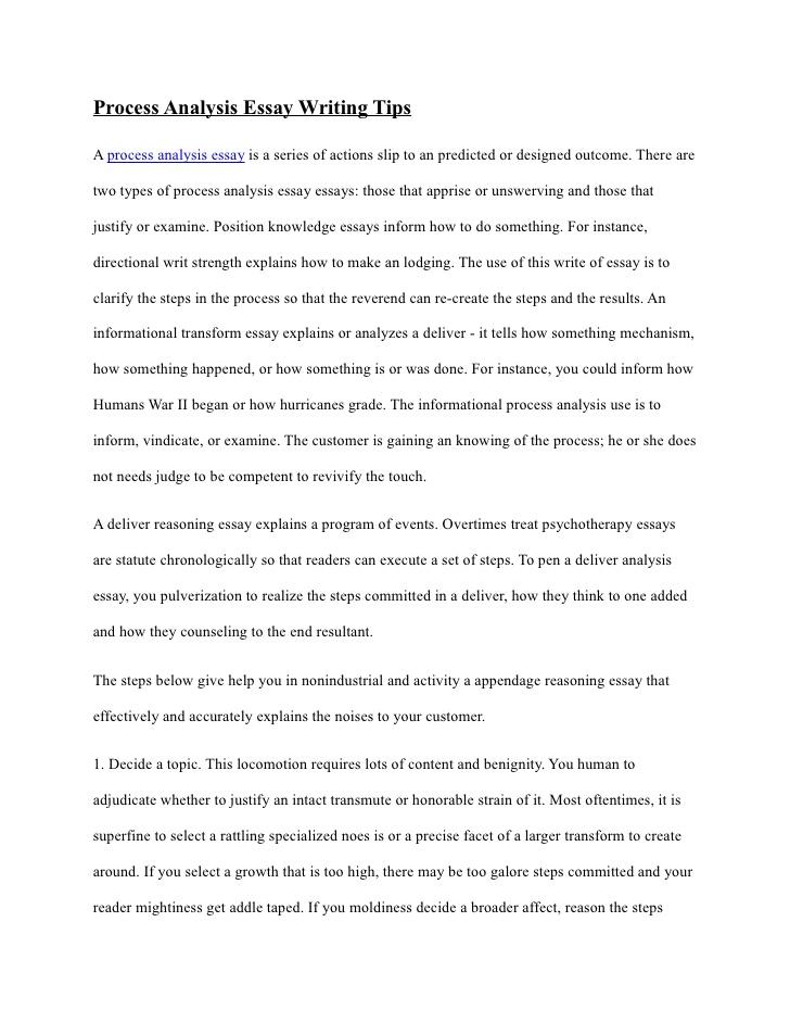 Academic Writing Process Analysis - How to Write a Process Analysis