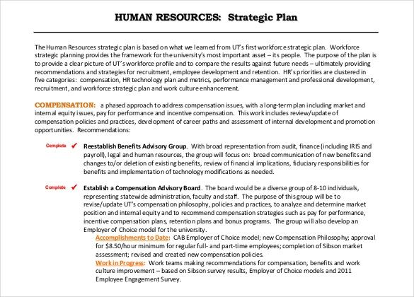 human resource strategy examples
