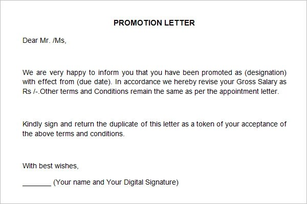 9+ Promotion Recommendation Letter Examples - PDF