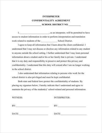 9+ Teacher Confidentiality Agreement Examples - PDF