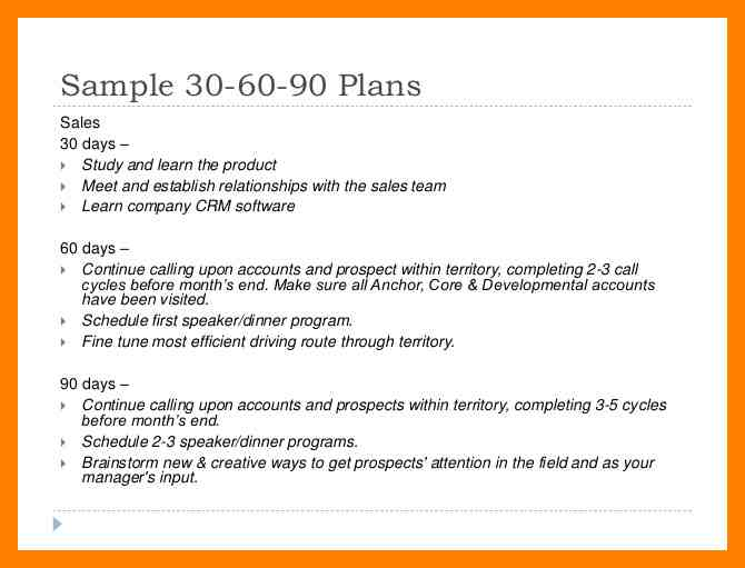 5+ 90-Day Plan for New Managers Examples - PDF - 90 day plan template