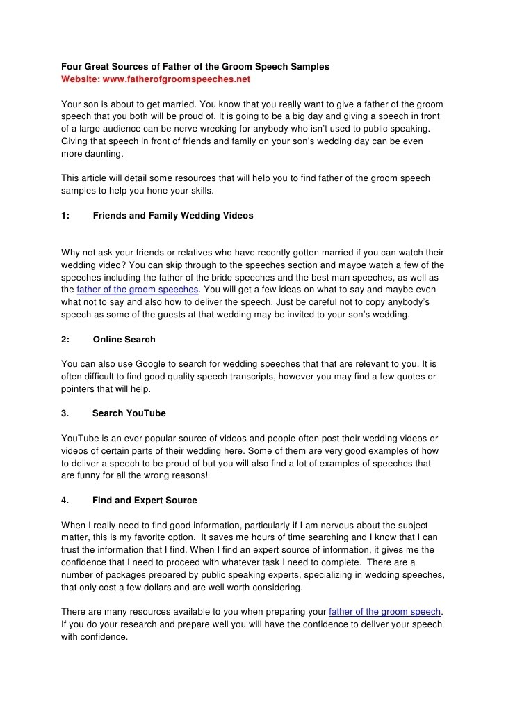 10+ Father of the Bride Speech Examples - PDF Examples