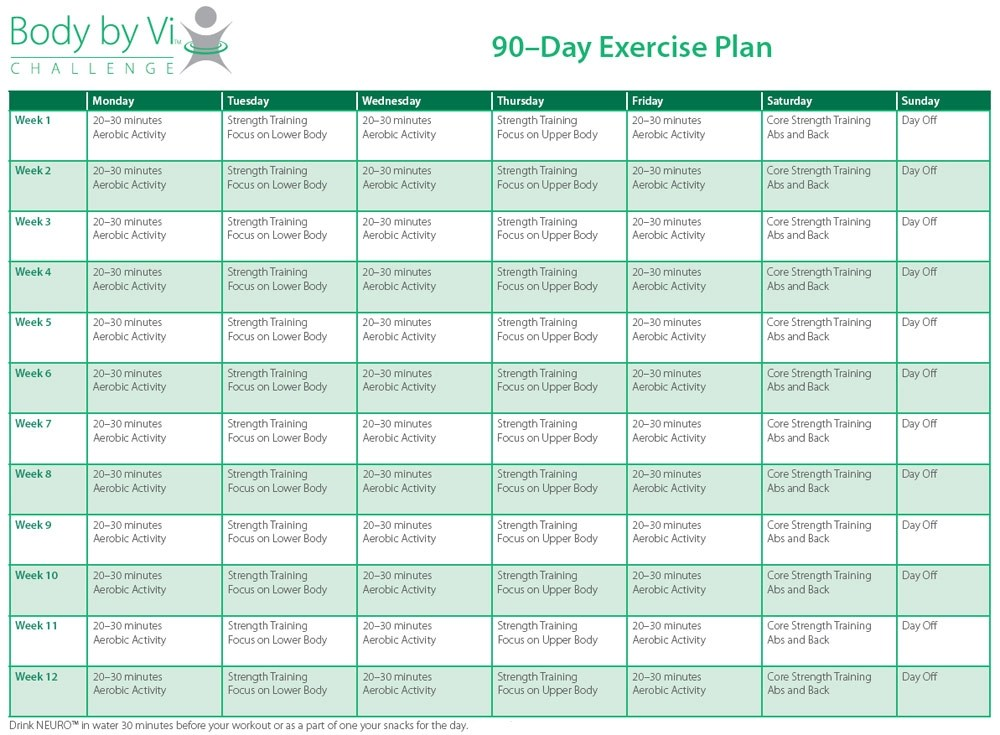 9+ 90-Day Workout Plan Examples - PDF