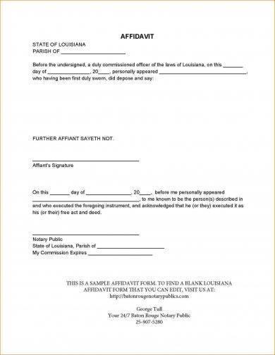 29+ Free Affidavit Form Examples - PDF