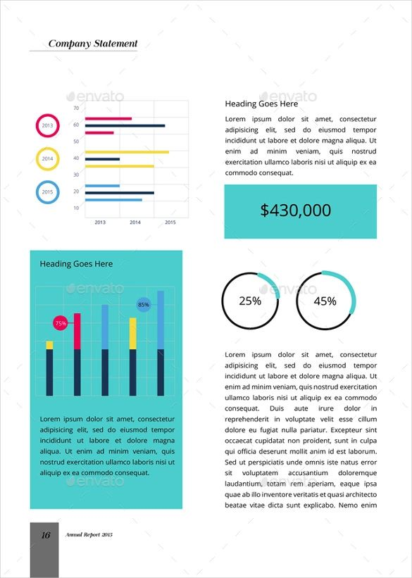 annual reports templates