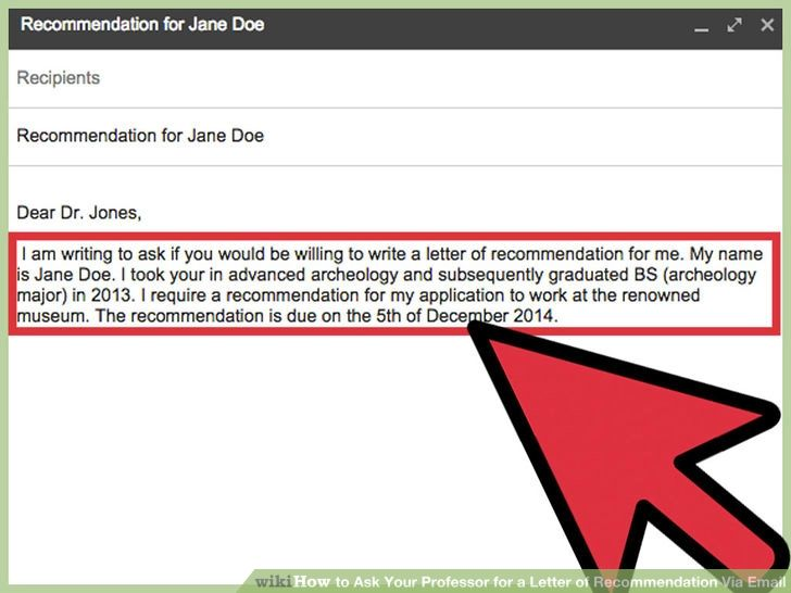 asking for a letter of recommendation email sample
