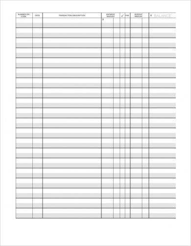 9+ Simple Checkbook Register Examples - PDF