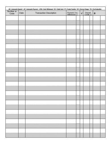9+ Printable Checkbook Register Examples - PDF Examples