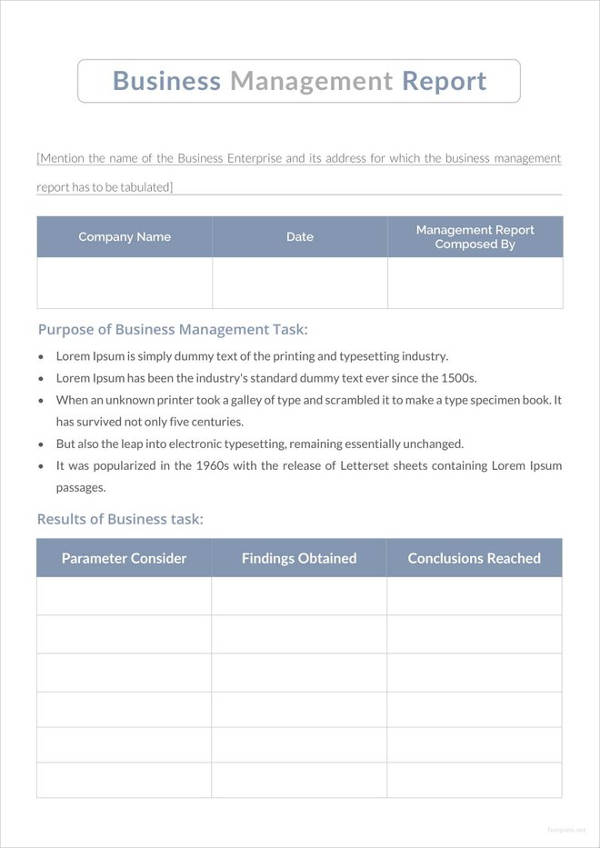 13+ Business Management Report Examples - PDF Examples