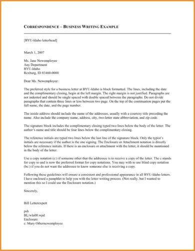 7+ Official Correspondence Letter Examples - PDF Examples
