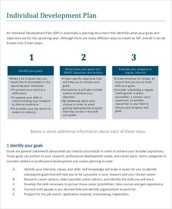 10+ Career Development Plan Examples - PDF, Word
