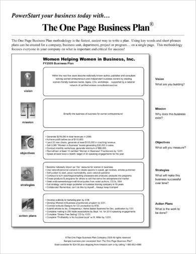 10+ One-Page Action Plan Examples - Word, PDF Examples