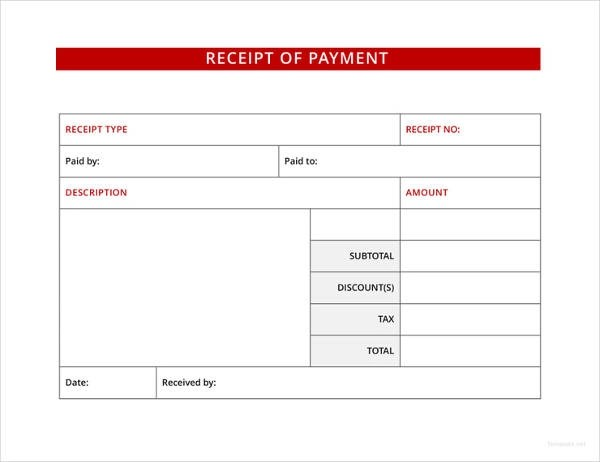 9+ Receipt of Payment Examples - PDF Examples