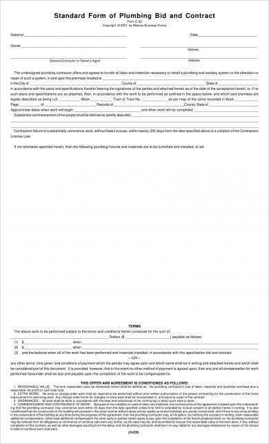 9+ Construction Bid Form Examples - PDF