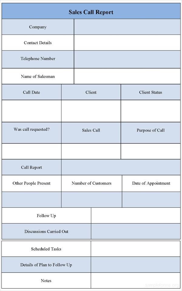 8+ Sales Call Report Examples - PDF - sales call report sample