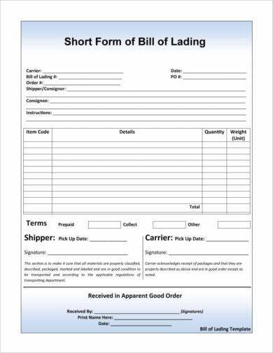 8+ Straight Bill of Lading Examples - PDF Examples