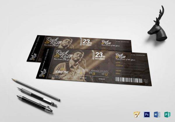 9+ Music Concert Ticket Designs  Examples - PSD, AI Examples