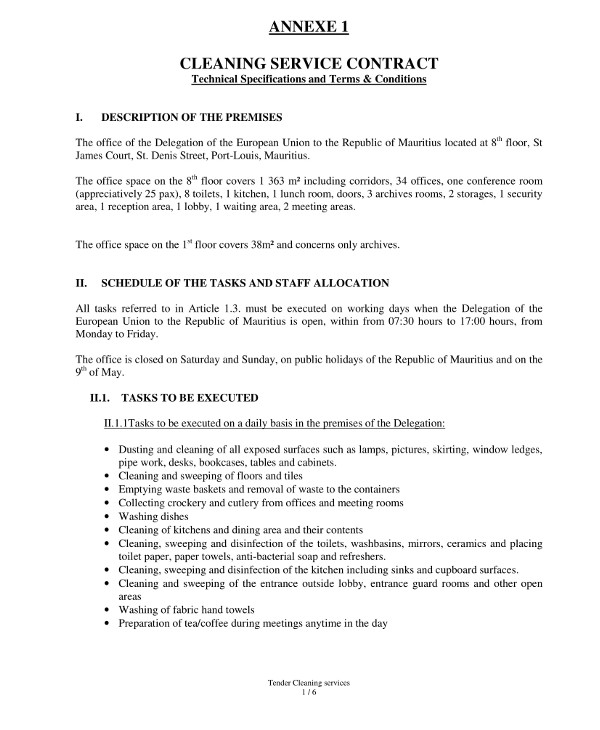 9+ Janitorial Service Contract Examples - PDF
