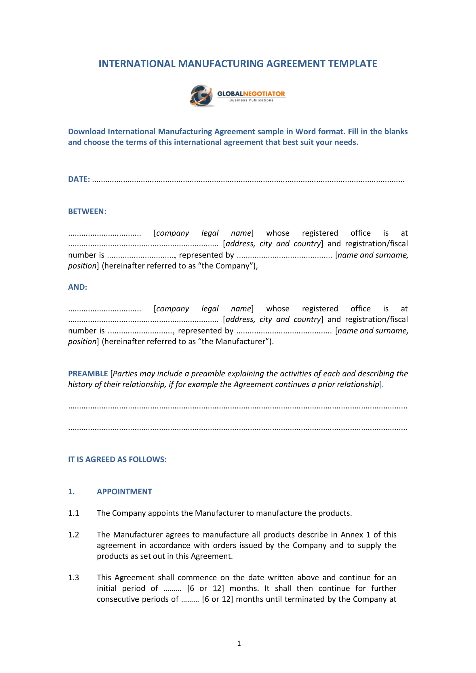 contract agreement template pdf