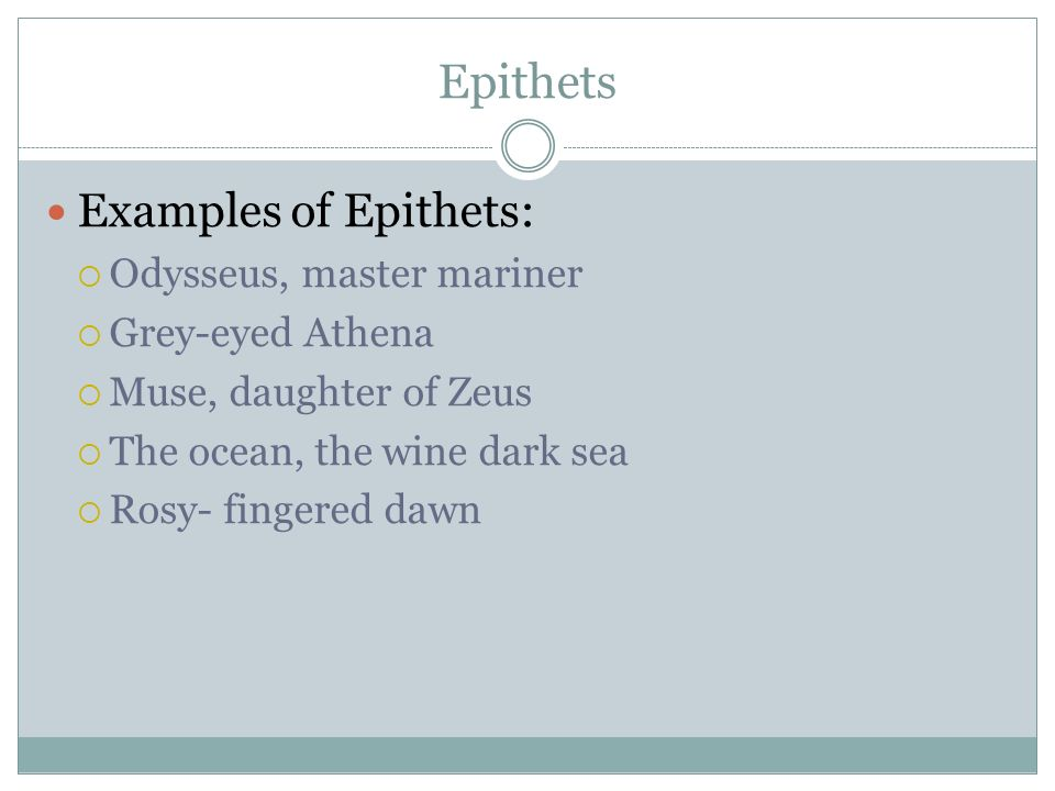 26+ Epithet Examples - PDF - examples of