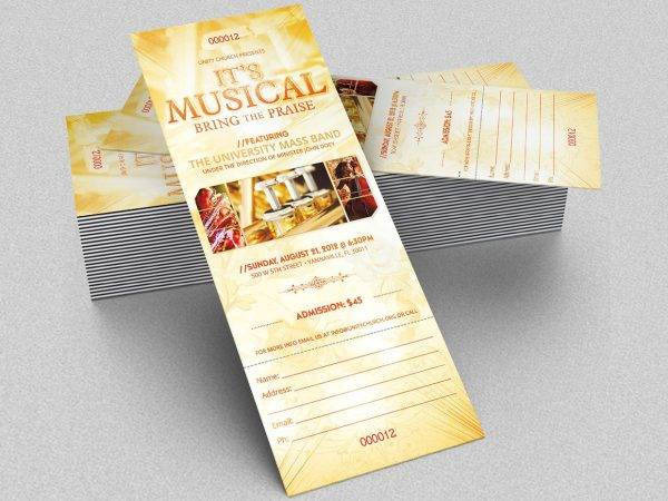 9+ Music Concert Ticket Designs  Examples - PSD, AI