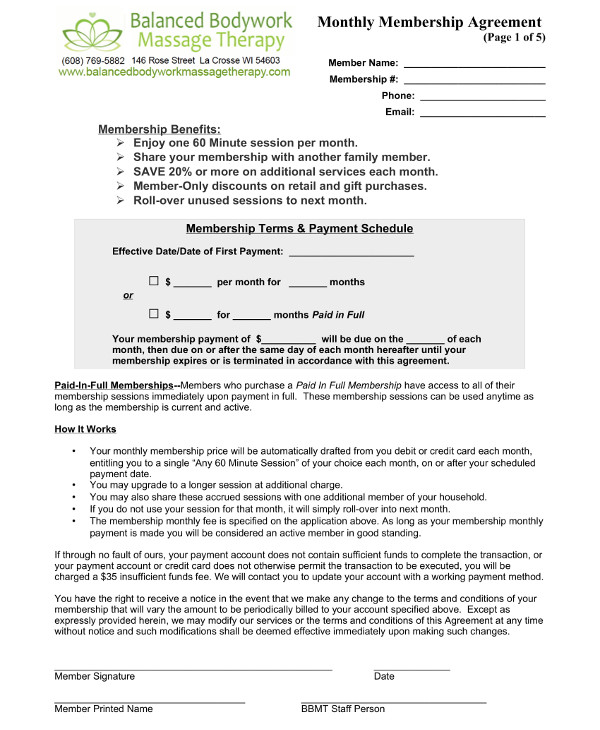 therapy contract template