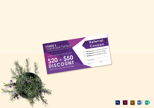 16+ Referral Coupon Designs and Examples - PSD, InDesign, Publisher