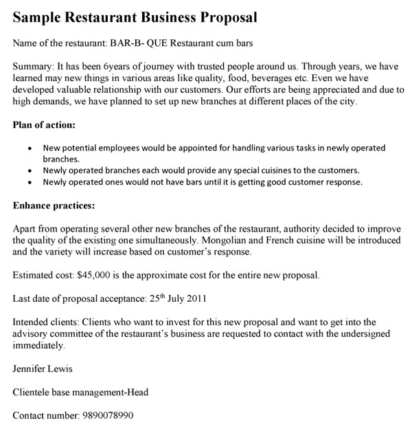 11+ Restaurant Project Plan Examples  Samples - PDF Examples
