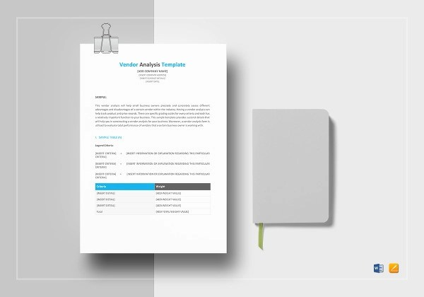 10+ Vendor Analysis Examples - PDF, Word, Pages Examples
