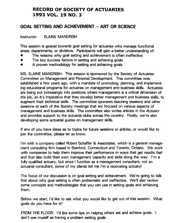 9+ Business Goal Setting Examples - PDF Examples
