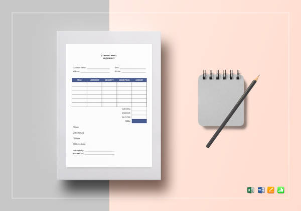 10+ Sales Receipt Examples  Samples - PDF, Word, Pages
