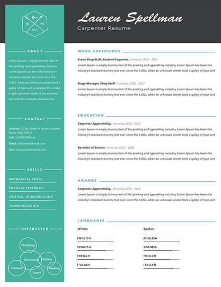 jobaccess gov au resume template