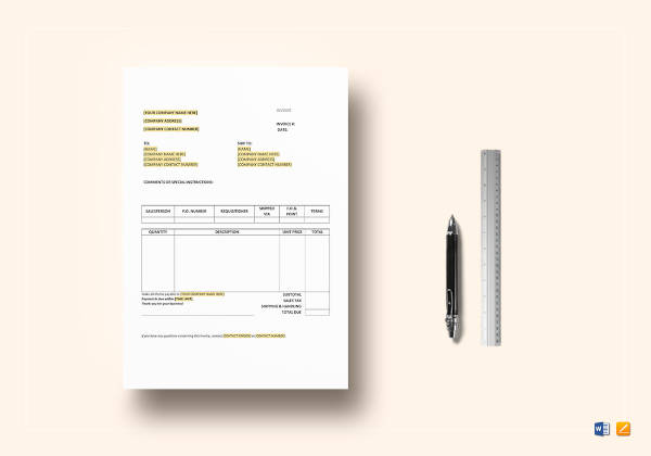 7+ Purchase Invoice Examples  Samples - PDF, Word, Pages Examples