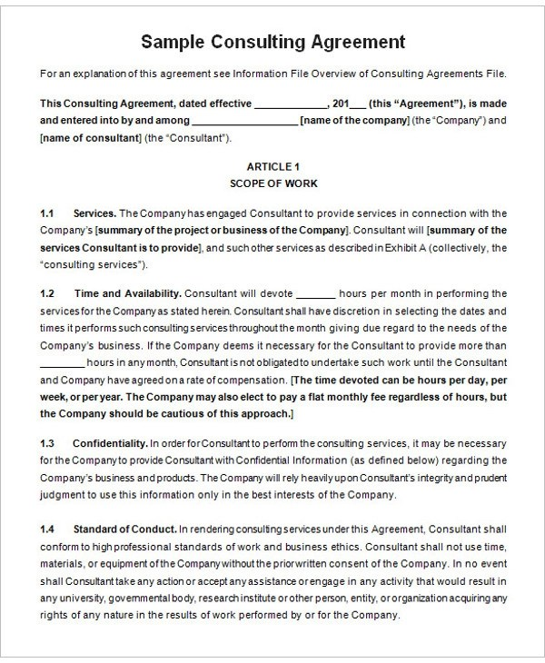 9+ Training Consultant Contract Examples - PDF