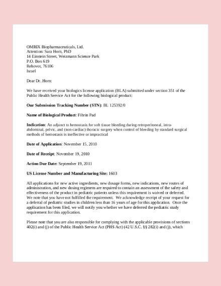 examples of job application letters