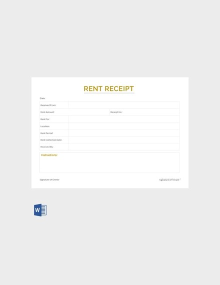 14+ Rent Receipt Examples, Templates in Word, Pages, PDF, AI