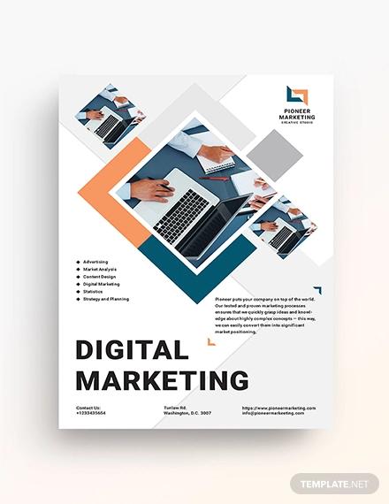 23+ Digital Marketing Flyer Examples, Templates,  Design Ideas