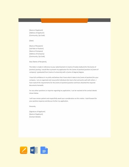 52+ Application Letter Examples  Samples - PDF, DOC Examples