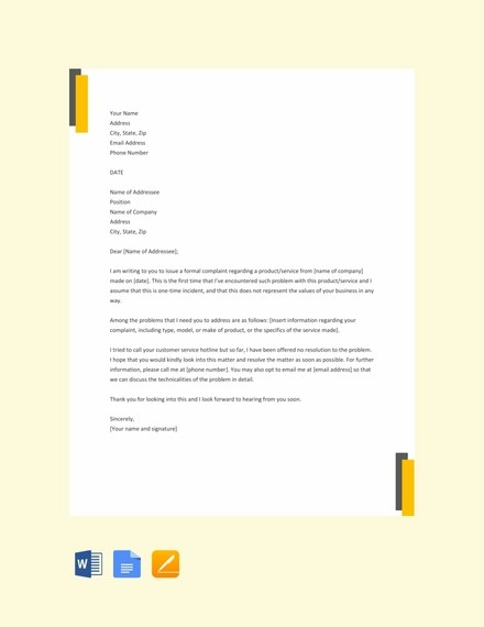 32+ Complaint Letter Examples  Samples - PDF, DOC Examples