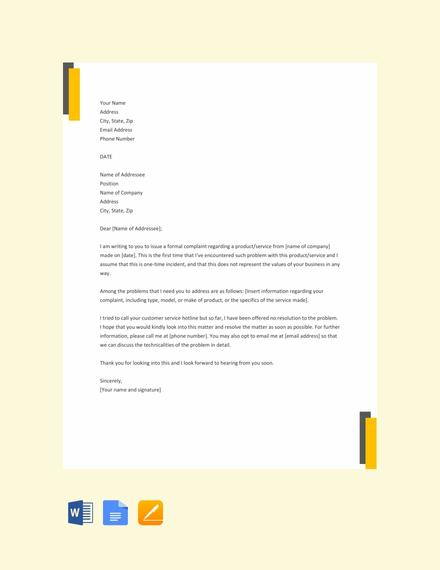 32+ Complaint Letter Examples  Samples - PDF, DOC