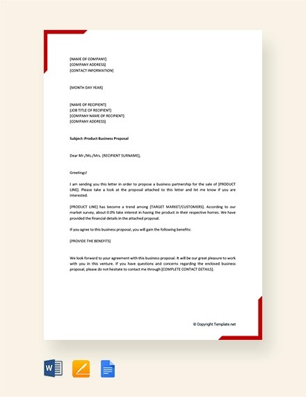 26+ Business Proposal Letter Examples - PDF, DOC