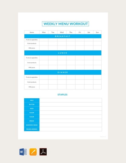 14+ Weekly Schedules Examples  Templates Examples
