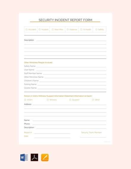 30 Security Incident Report Template Lock Resume Sampling