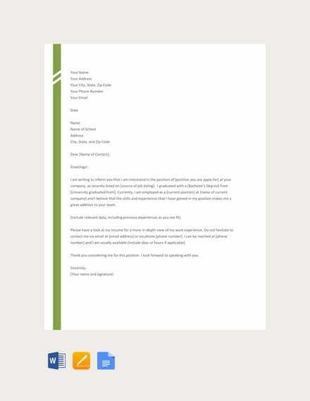 17+ Simple Application Letter Examples - PDF, DOC Examples