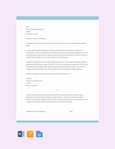 office appointment letter format - Pinarkubkireklamowe
