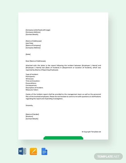6+ Incident Report Letter Examples - PDF Examples