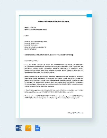 free examples of letter of recommendation