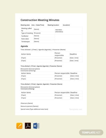 25+ Meeting Minutes Examples - Apple Pages, Google Docs, Apple Pages