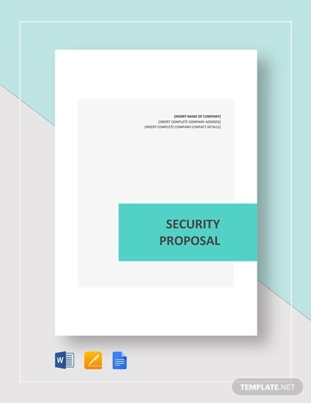 11+ Security Proposal Examples - Word, PDF, Pages Examples