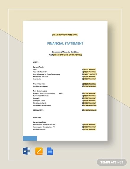 33+ Financial Statement Examples  Samples - PDF, Word, Pages Examples